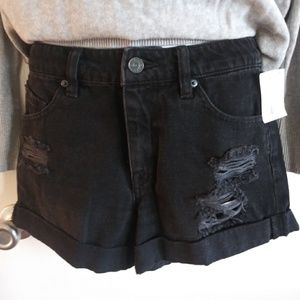 NWT Volcom Black Denim Shorts